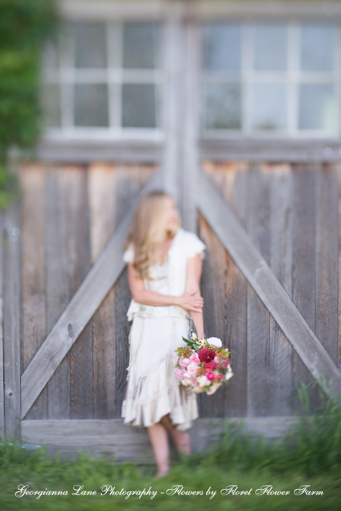 Photo by Georgianna Lane, Flowers by Floret Flower Farm
