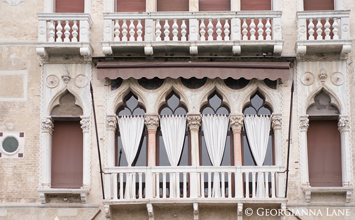 gothic windows, Venice, Italy
