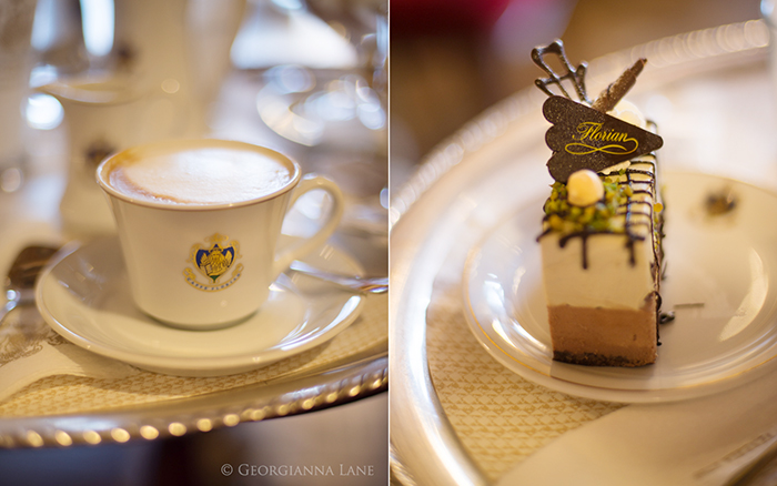 Coffee and cake, Caffe Florian, Venice
