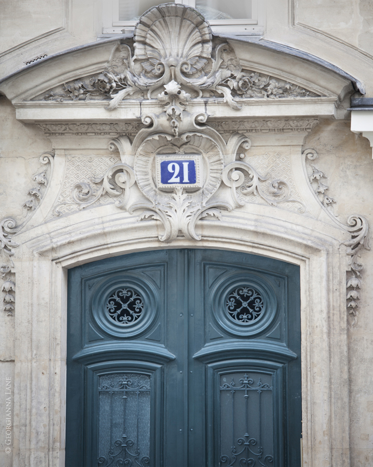 Blue Door, Paris, by Georgianna Lane