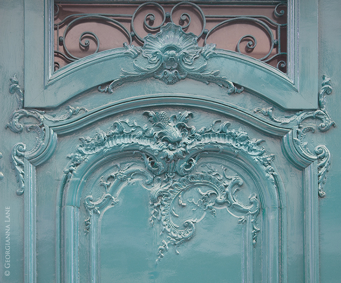 Teal Door, Paris by Georgianna Lane