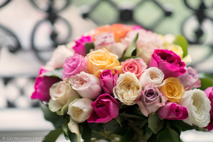 Bouquet of English Roses in Paris by Georgianna Lane
