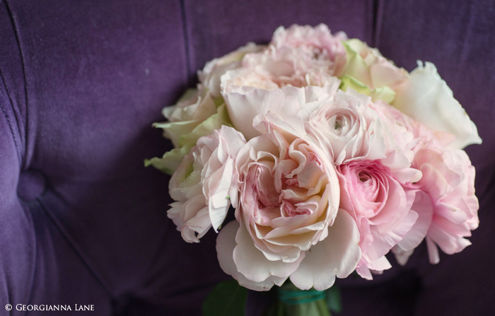 Bouquet of English Roses and Ranunculus in Paris by Georgianna Lane