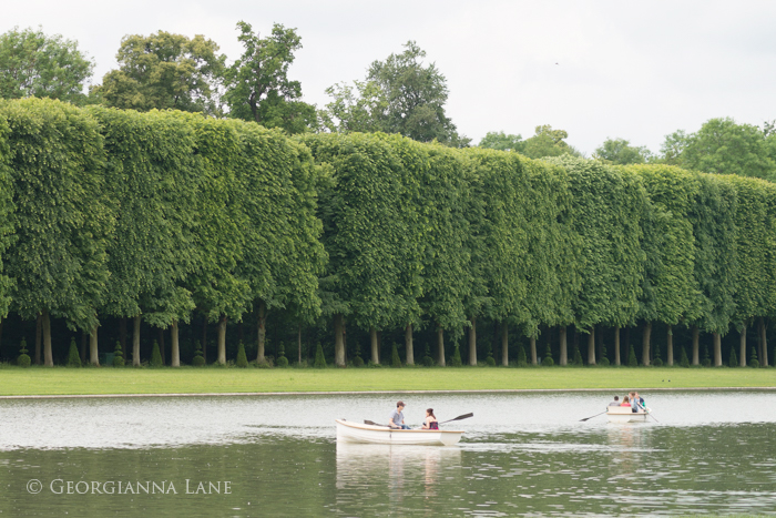 Boating on the Grand Canal, Versailles by Georgianna Lane
