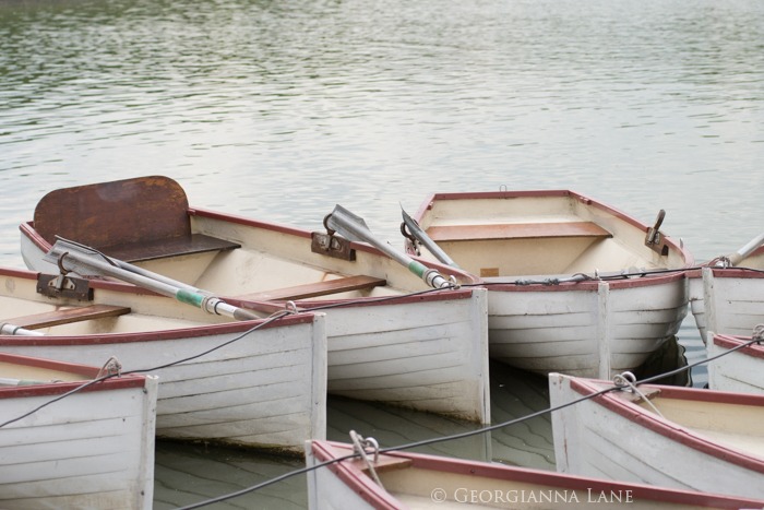 Boats on the Grand Canal, Versailles by Georgianna Lane