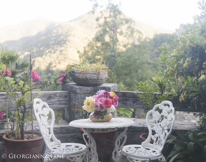 Terrace at the home of Maria Cecilia in Chile, photographed by Georgianna Lane