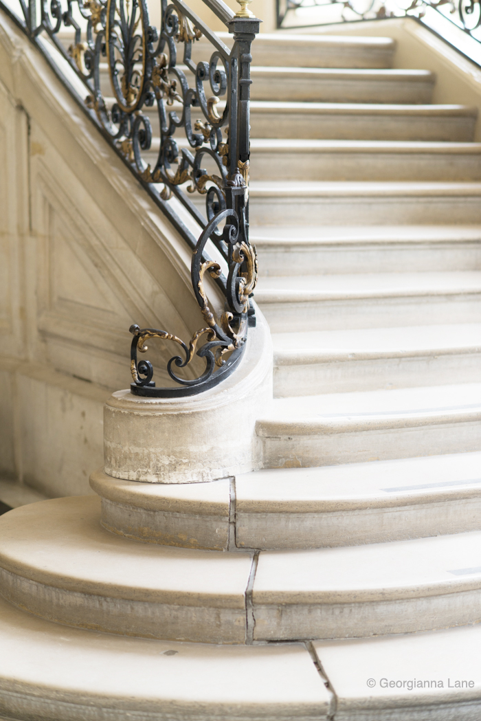 Staircase, Musee Rodin, Paris, by Georgianna Lane