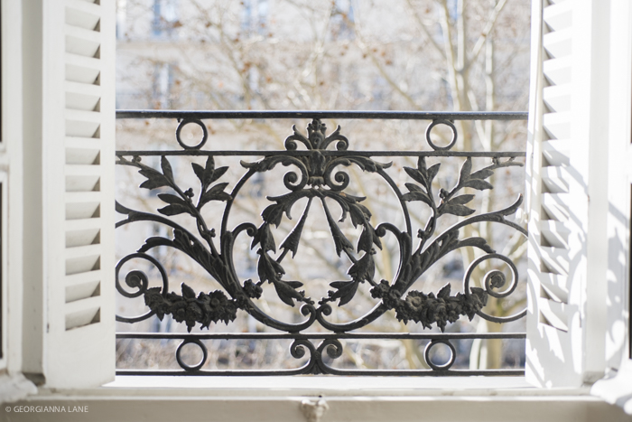 Balcony of a Paris Perfect Apartment photographed by Georgianna