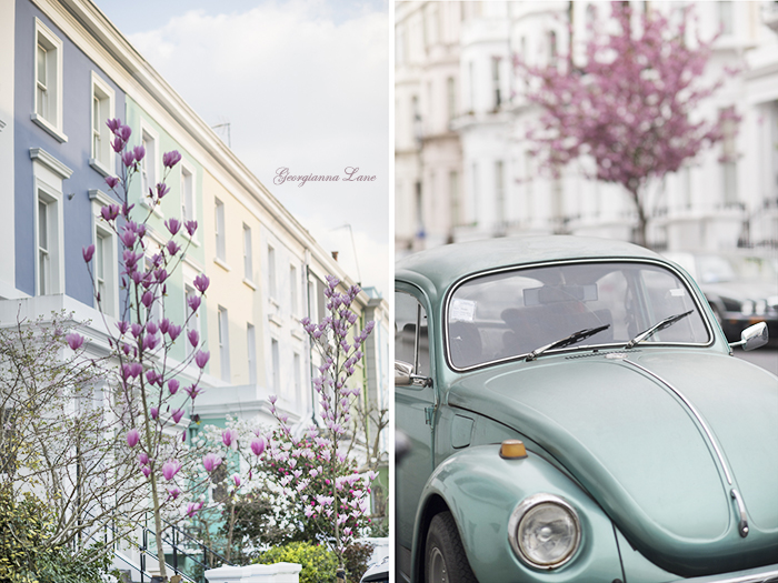Pastel Houses, Notting Hill, London by  Georgianna Lane