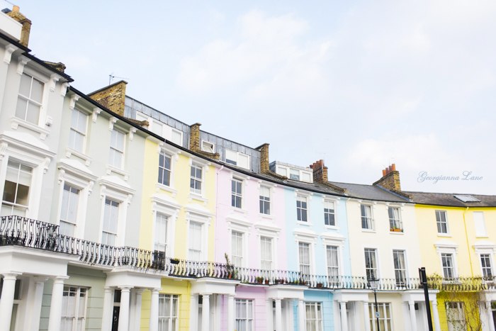 Pastel Houses, Primrose Hill, London by Georgianna Lane