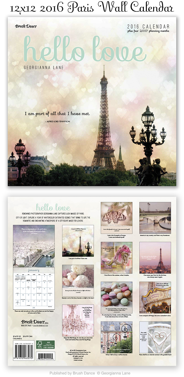 2016 Paris Calendar by Georgianna Lane