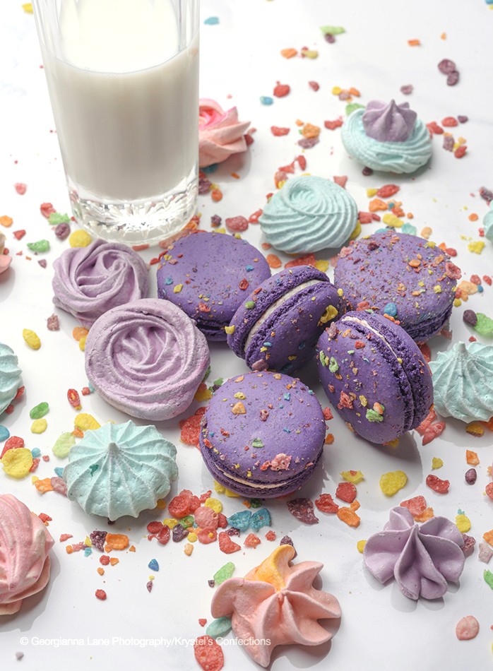 Krystel's Confections macarons photographed by Georgianna Lane