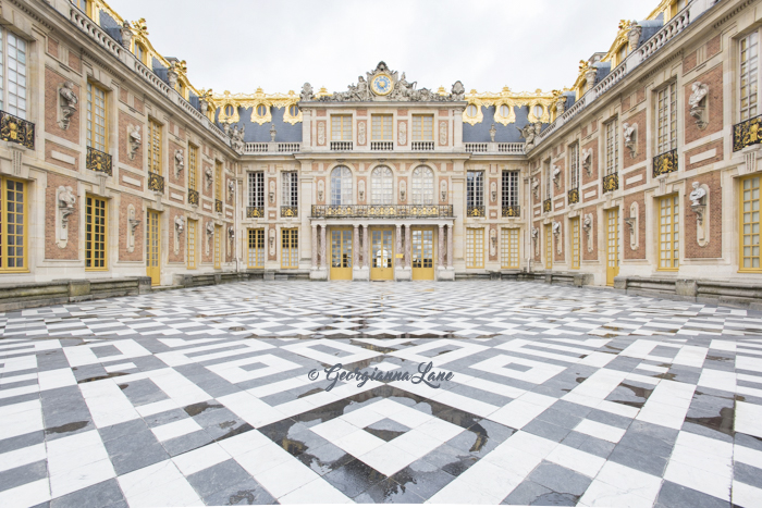 The Marble Court, Versailles, by Georgianna Lane