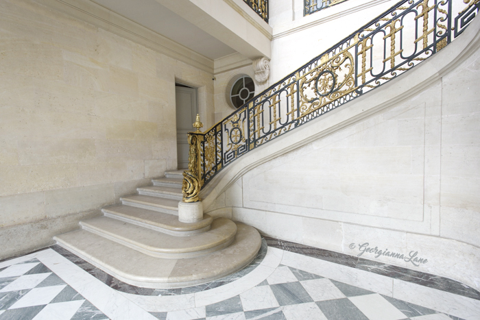 Staircase, Petit Trianon, Versailles, by Georgianna Lane