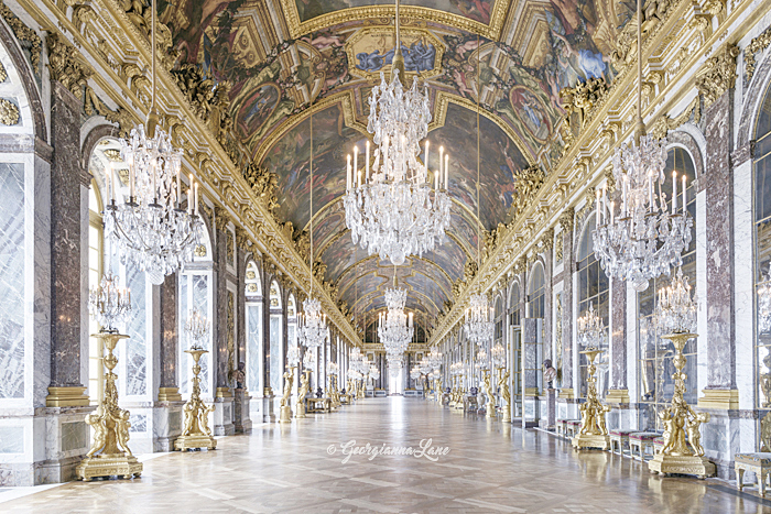 The Hall of Mirrors, Versailles by Georgianna Lane
