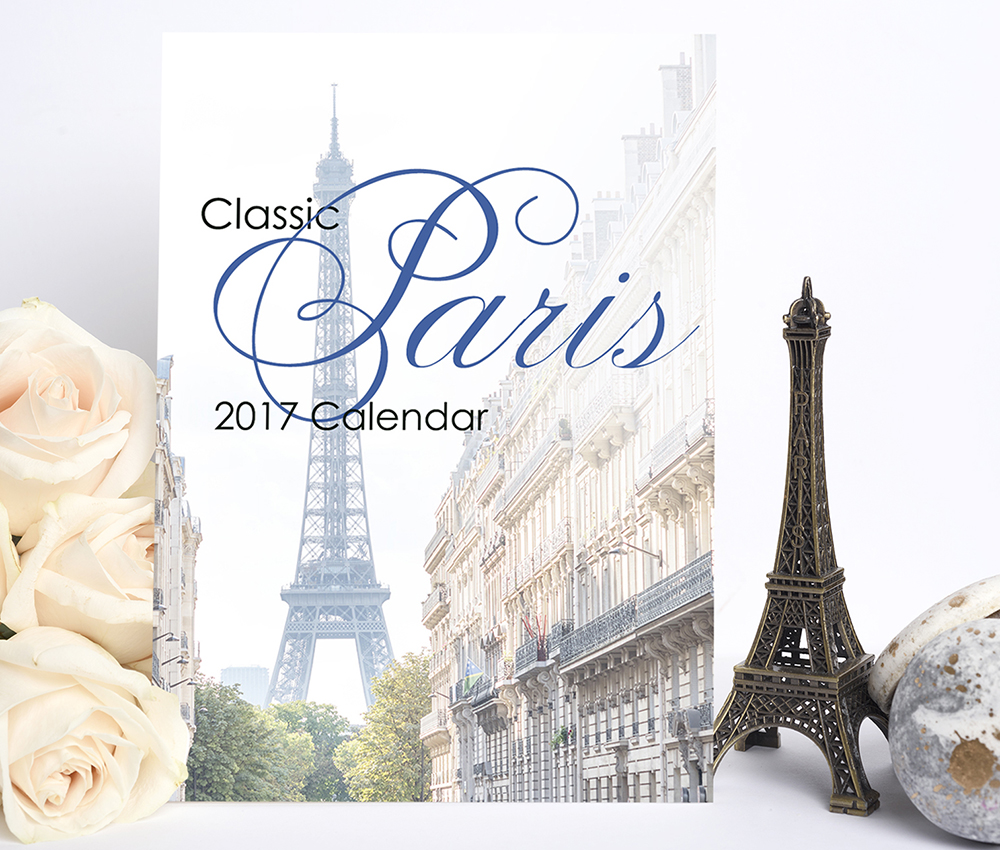 2017 Paris Calendar by Georgianna Lane