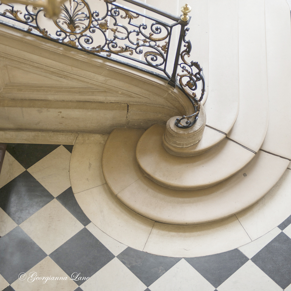 Staircase at the Rodin Museum, Paris, by Georgianna Lane