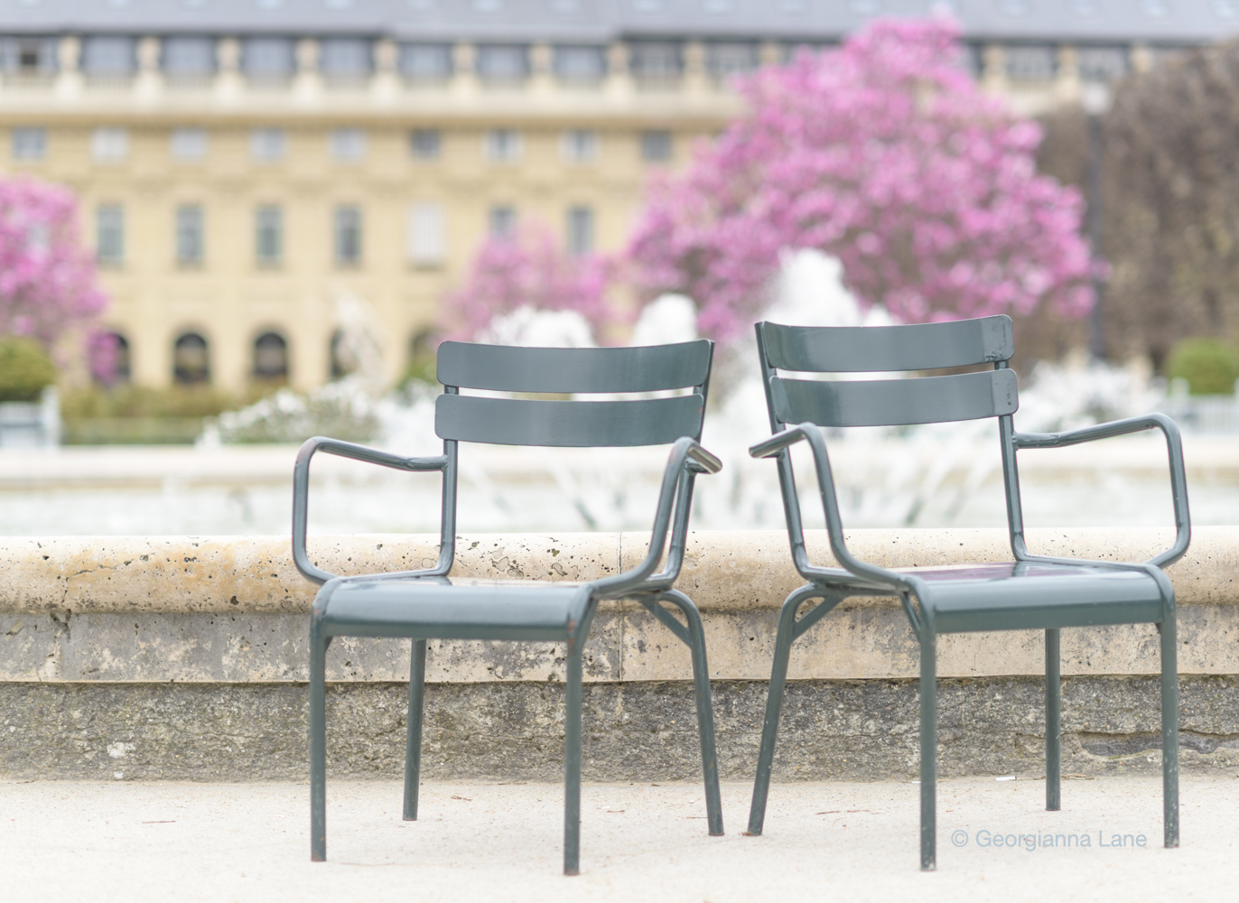 Palais Royal in spring by Georgianna Lane