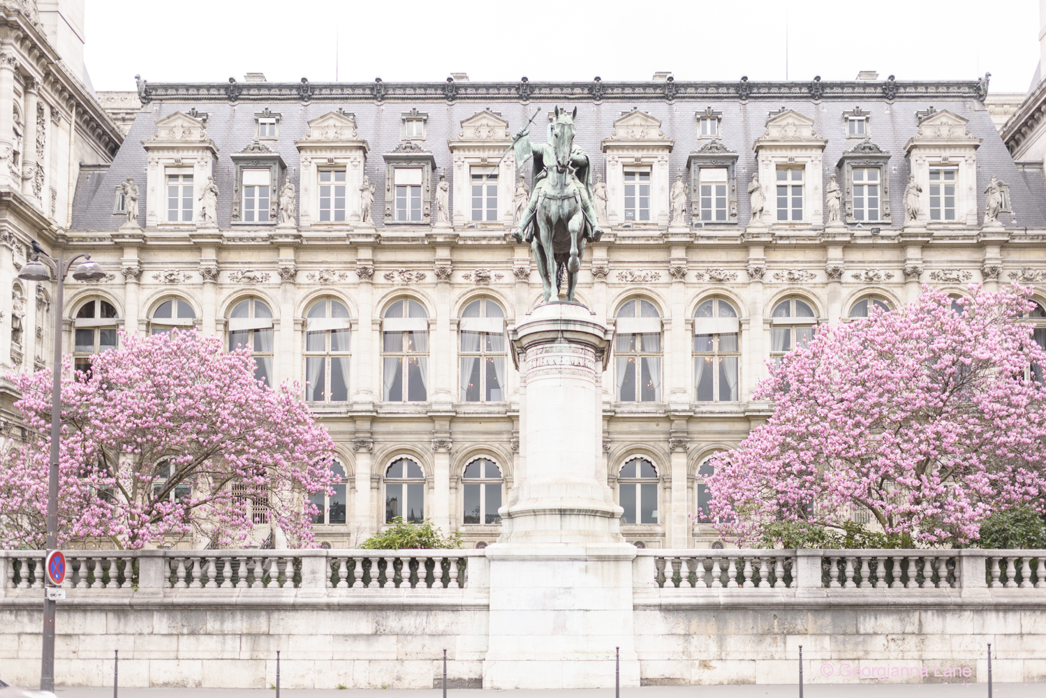 Hôtel de Ville, Paris, in spring, by Georgianna Lane