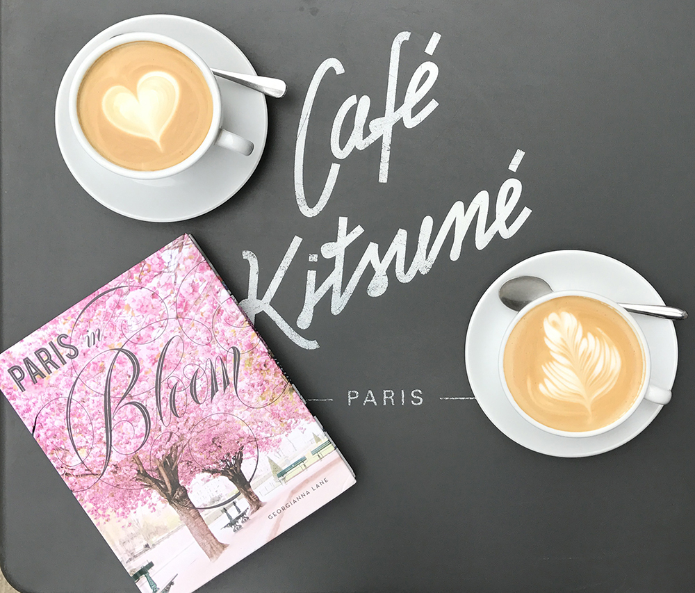 Paris in Bloom by Georgianna Lane at Cafe Kitsune, Paris