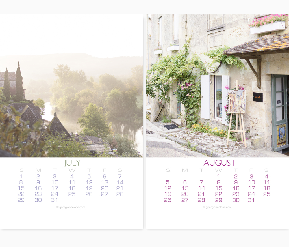 2018 French Country Calendar by Georgianna Lane